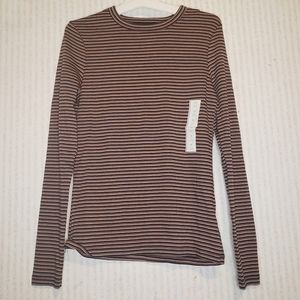 Striped Long Sleeve Shirt X Small a new day